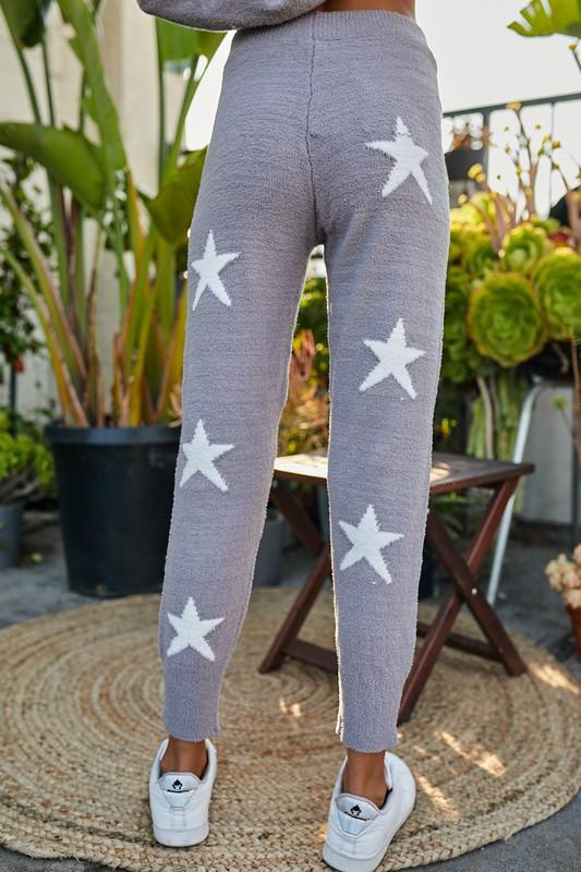 Star of My Heart Grey Printed Pants