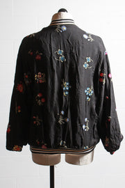 Johnny Was Collection Kitty Reversible Bomber Black