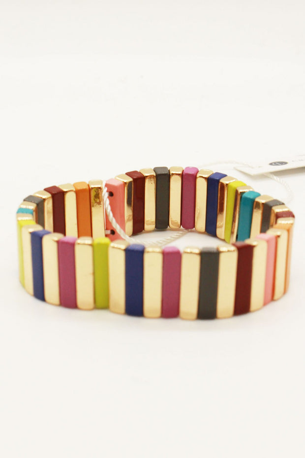 Caryn Lawn Stretch Tile Bracelet