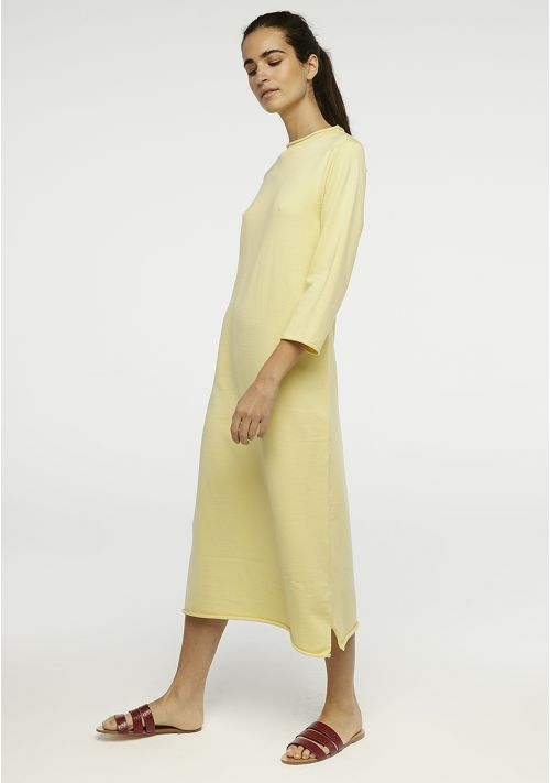 Compania Fantastica Long Knit Dress Yellow