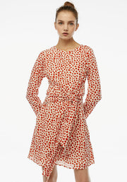 Compania Fantastica Polka Dot Tie Front Dress Red