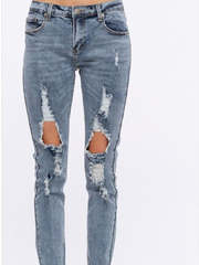 Ripped Skinny Jeans-Final Sale