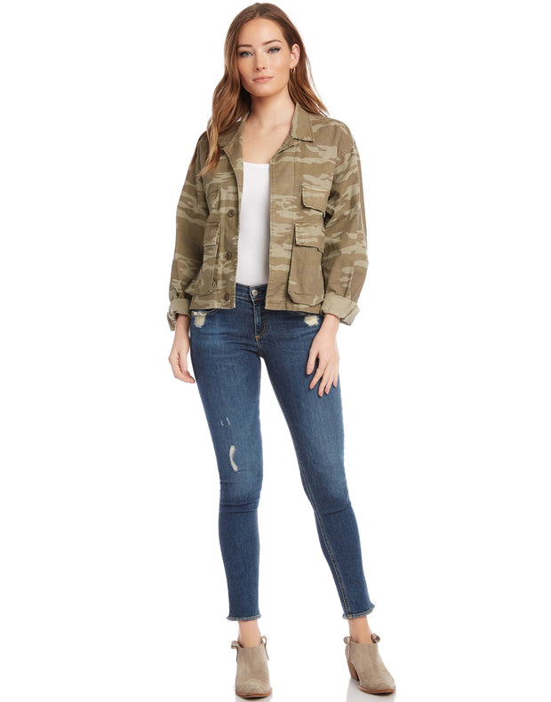 Fifteen Twenty Cropped Camo Jacket