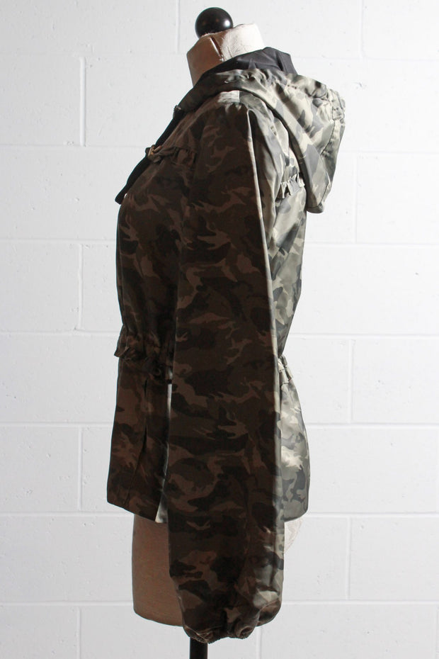 Generation Love Ruffle Windbreaker Camo Barron