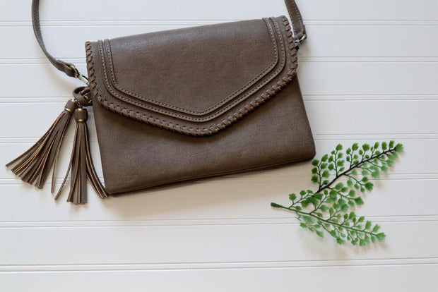 Love You Fiercely Taupe Purse - 18493