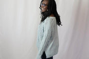 Misty Blue Woven Sweater - 18290