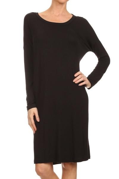 Mystree Dolman Long Sleeve Dress