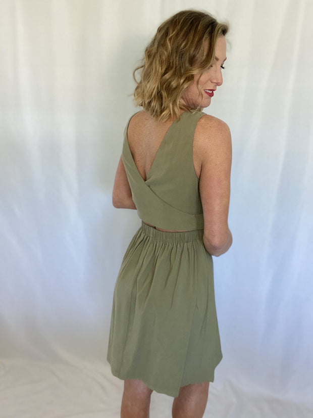 Greet the Spring Green Dress