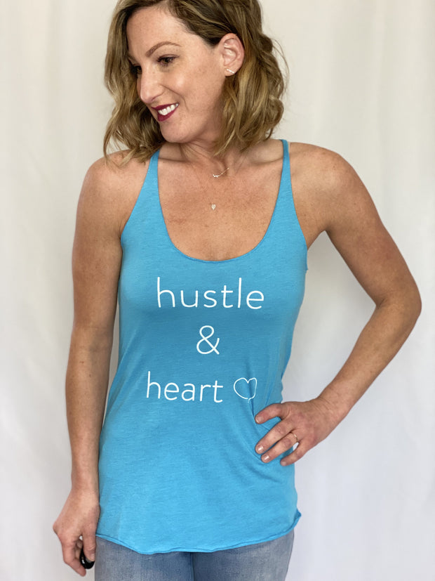 Hustle & Heart Custom Graphic Tank