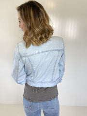 Chasing My Own Dreams Cropped Denim Jacket