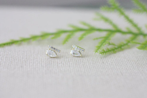 Tear Drop Sterling Stud