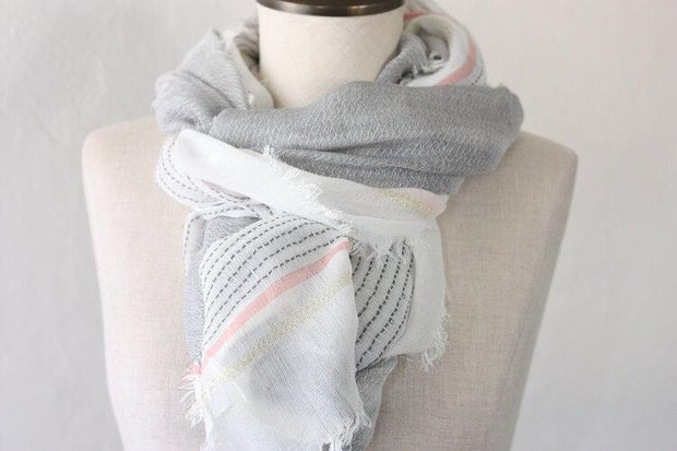 Striking in Stripes Spring Scarf