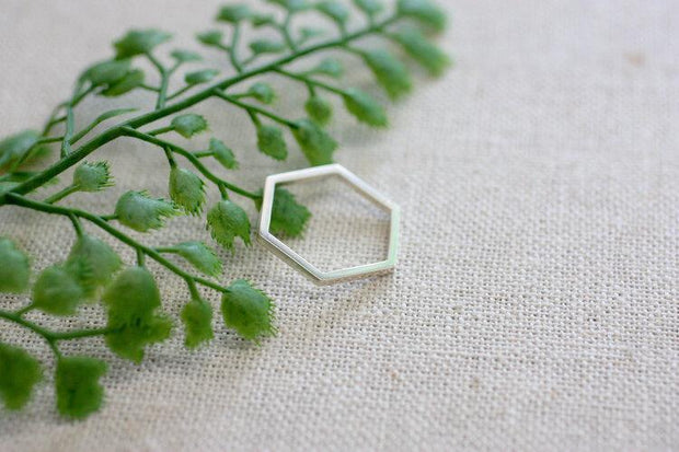 Hexagon Statement Ring