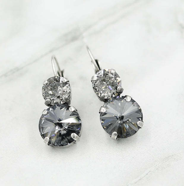 Rachel Marie Designs Laura Silver Ombre Earrings