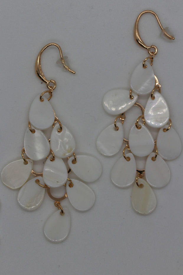 Twos Company Teardrop Mother of Pearl Earrings