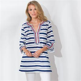 MudPie Navy Stripe Tunic