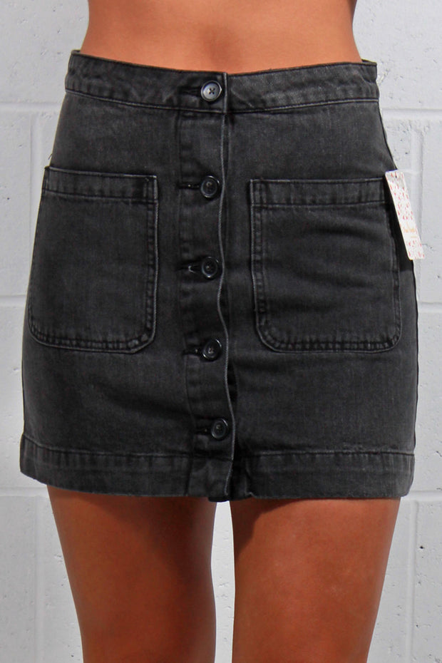Free People Dont Get Me Wrong Skirt Black