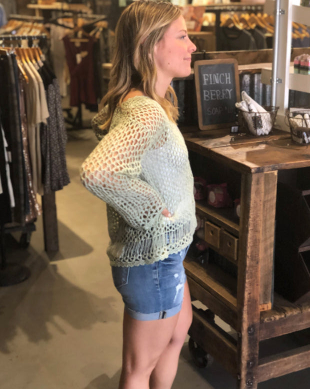 Open Weave Lily Knit Top