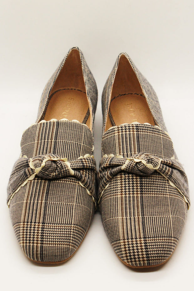 Jack Rogers Holly Plaid Loafer Midnight Tan