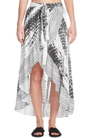 Elan Tie Dye Wrap High Skirt