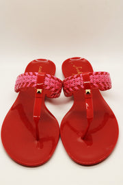 Jack Rogers Tinsley Jelly Sandal Red Magenta