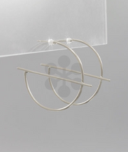 Secret Box Hoop & Bar Earrings