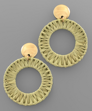 Stella Statement Circle Earrings