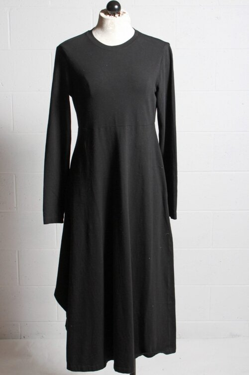 European Culture Long Sleeve Cotton Dress
