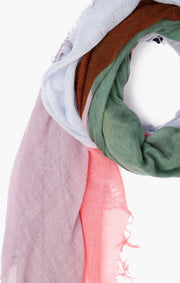 Chan Luu Colorblock Scarf Total Eclipse