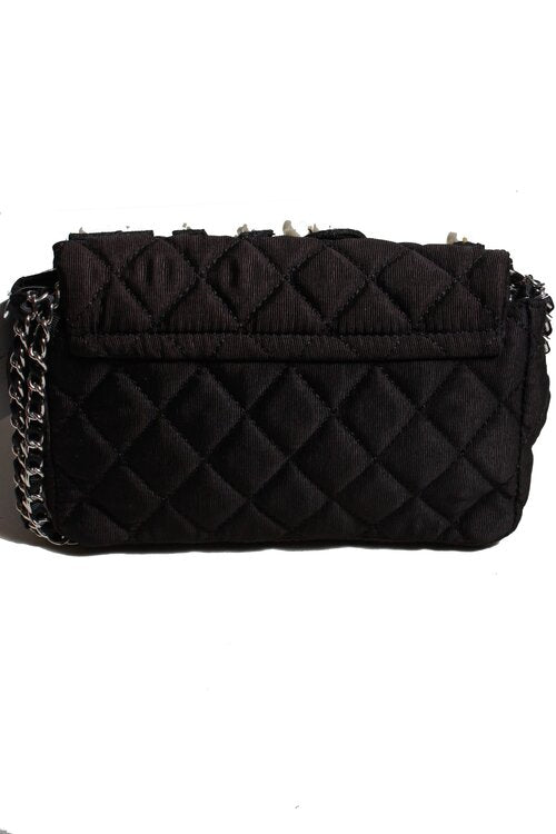 Inzi Handbags Pearl LOVE Bag Black