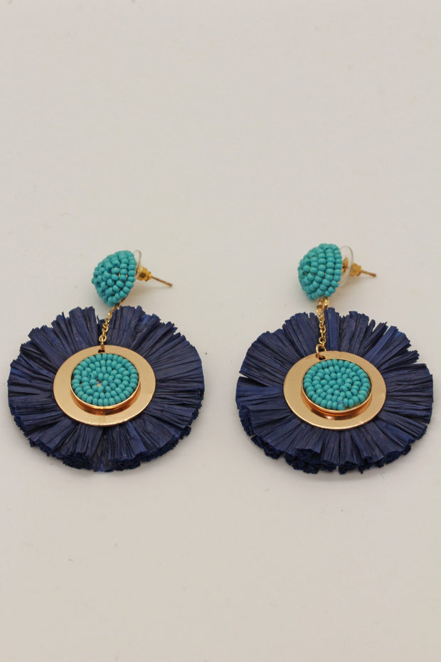 Roller Rabbit Beatrice Earring Navy with Blue
