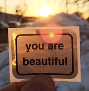 Classic You Are Beautiful Sticker Pack