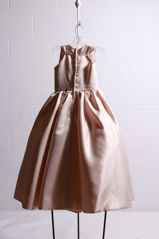Amalee Accessories Flower Girl Dress Champagne FG307