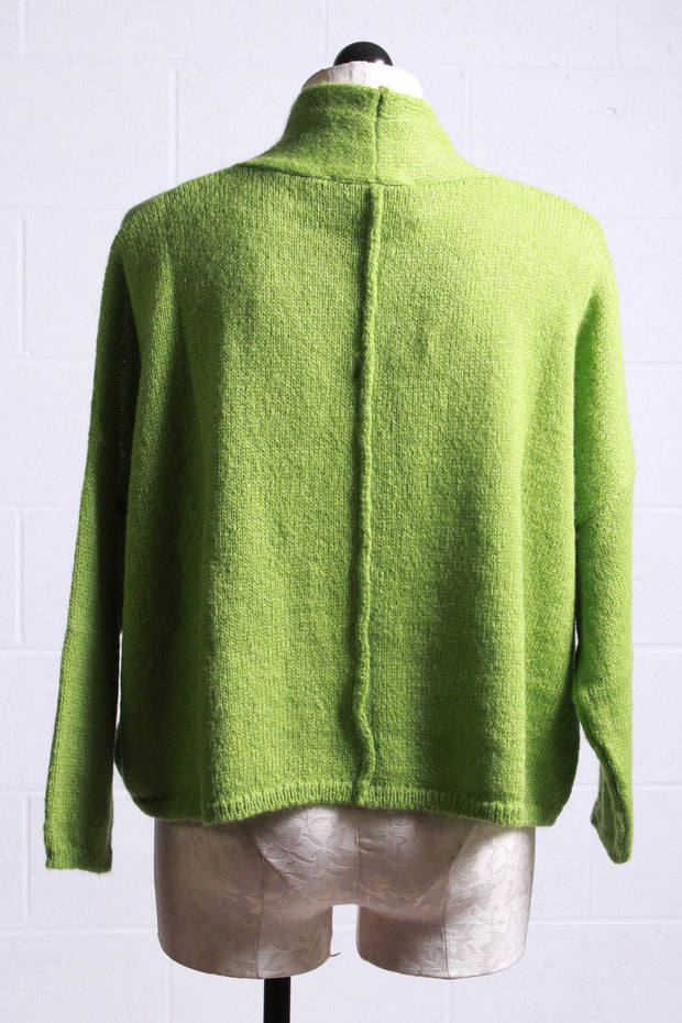 European Culture Mohair Cardigan Green M6009500