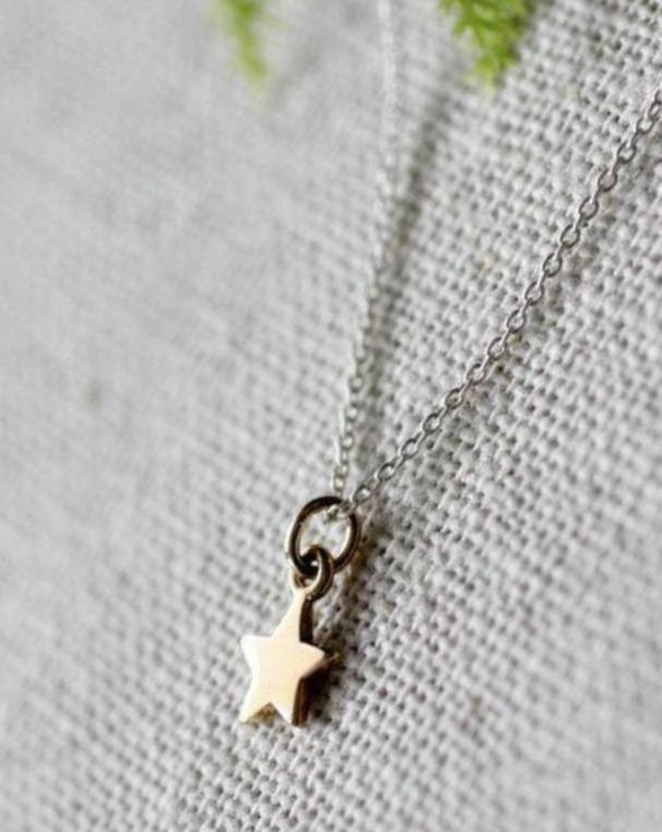 Shining Star Tiny Charm Necklace - 13211