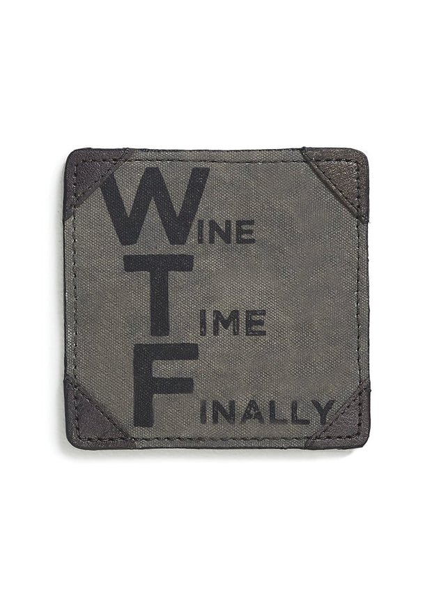 "U-Cycled ""Wine Time"" Canvas Coasters"