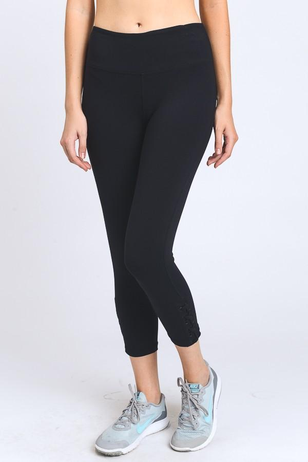 Criss-Cross Side Leggings-Final Sale
