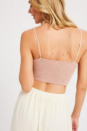 Light Pink Crochet Lace Bralette