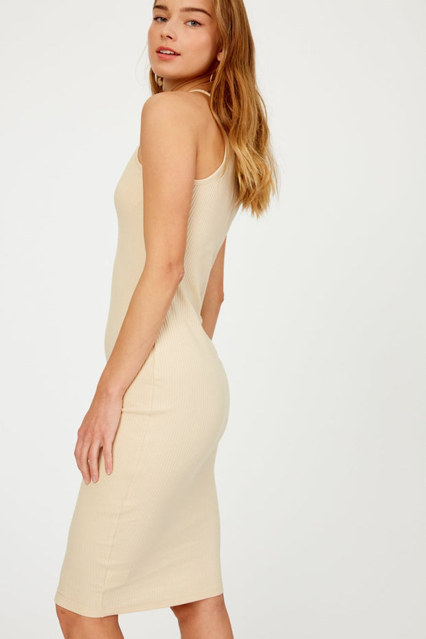 Patio Party Knit Ribbed Bodycon Dress