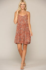 Paisley Paradise Sleeveless Dress