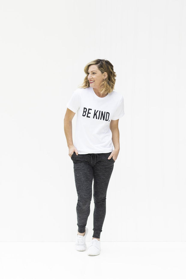 Be Kind White Graphic T-Shirt