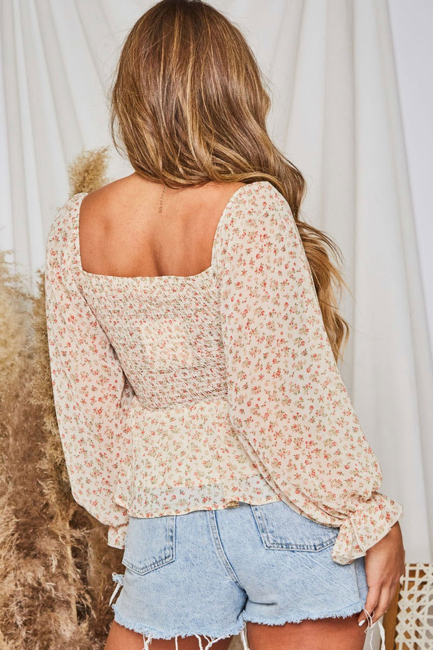 Off to the Garden Floral Top