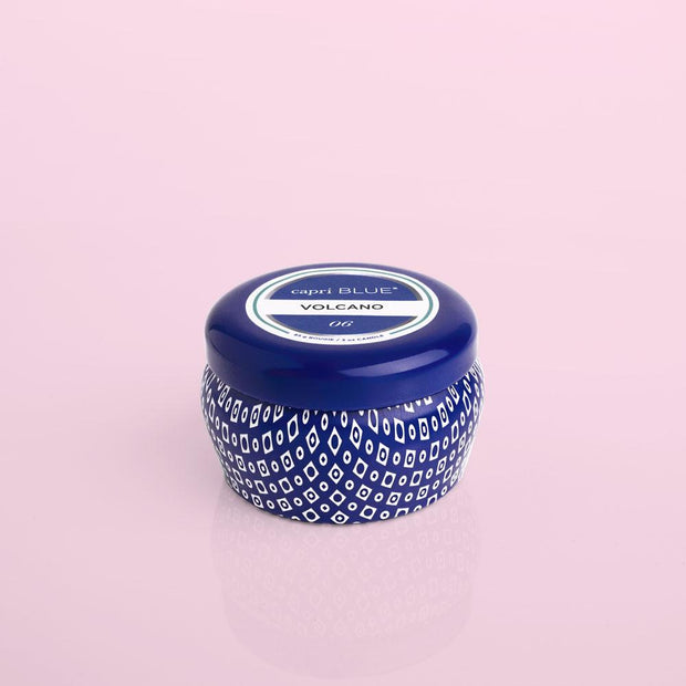 Capri Blue Volcano Printed Tin Candle