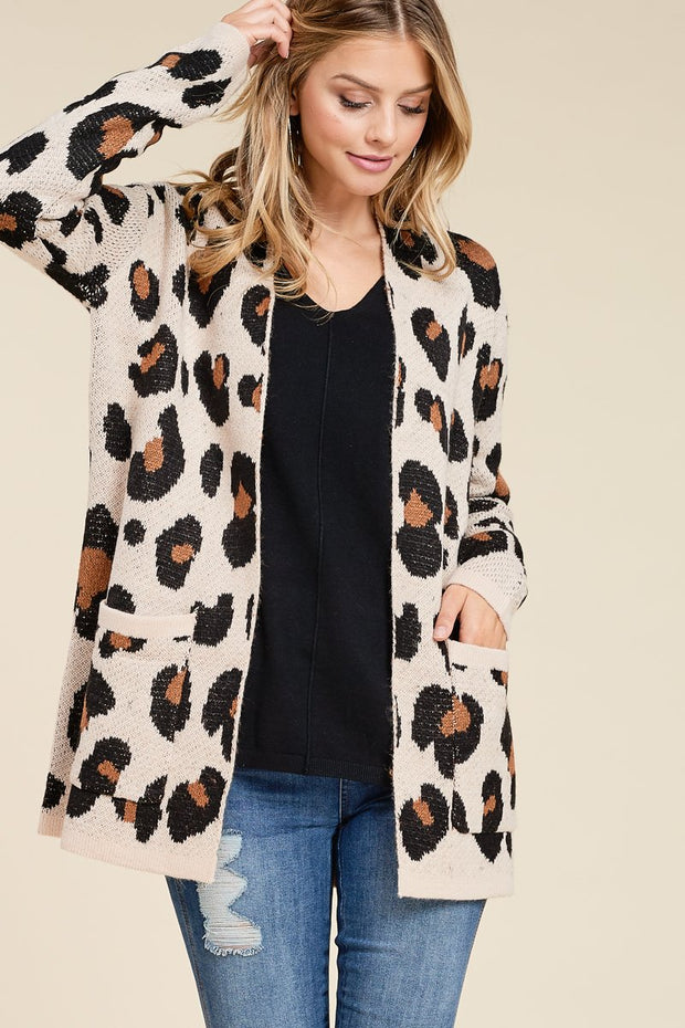 For the Love of Leopard Print Cardigan