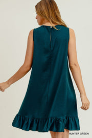 A Satin Doll Hunter Green Dress
