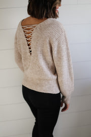 MELANGE LACE UP BACK (TAUPE)