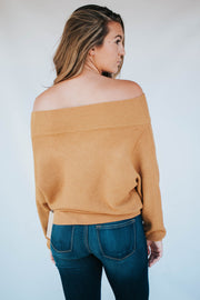 Off The Shoulder Sweater Mustard