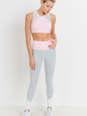 Colorblock Racerback Sports Bra-Final Sale