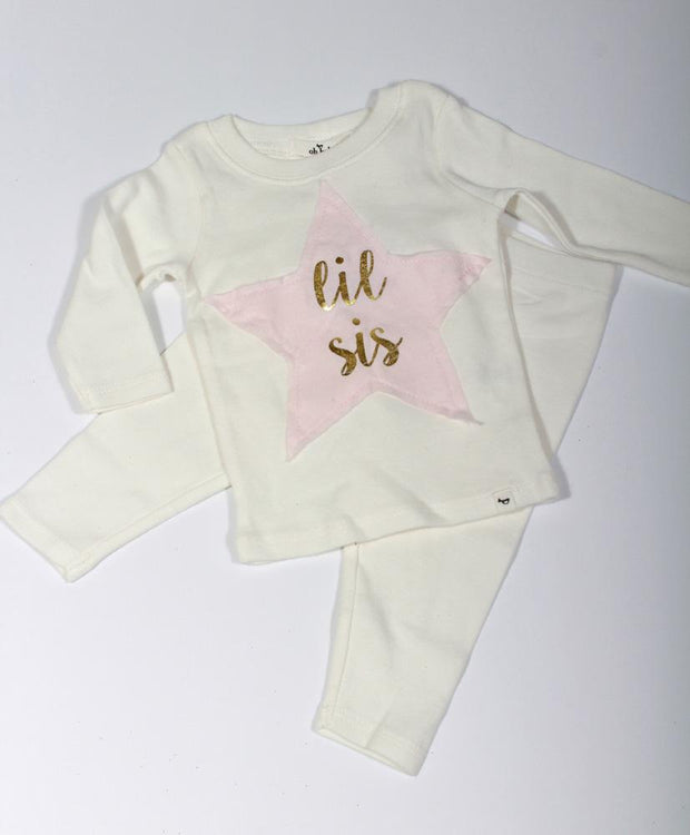 Oh Baby!  Little Sis Star Two Piece Set 2010A