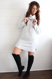 HIGH NECK SWEATER DRESS